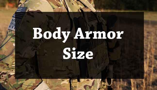 body armor size chart
