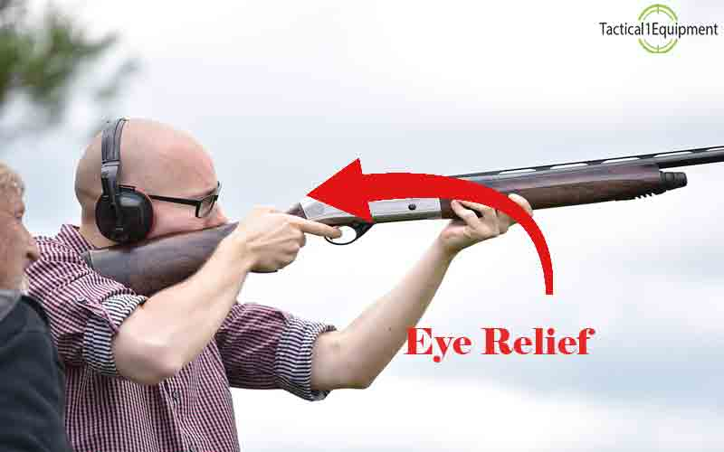 eye relief gap between rifle and eyes